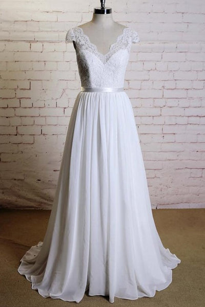 a-line-lace-and-chiffon-summer-beach-wedding-gown-online