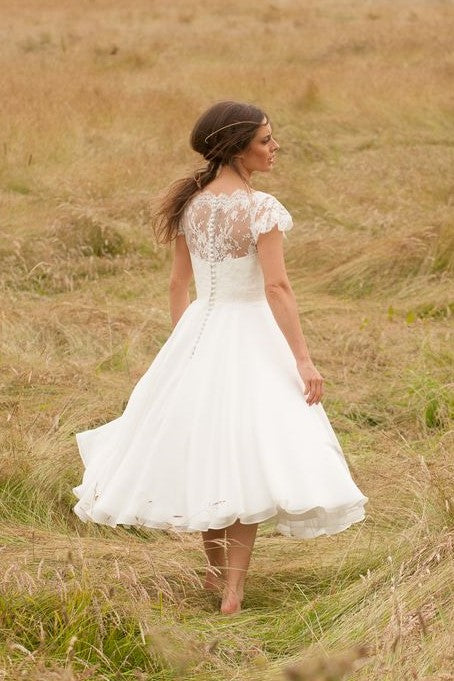 a-line-lace-chiffon-tea-length-wedding-dresses-with-sleeves-1