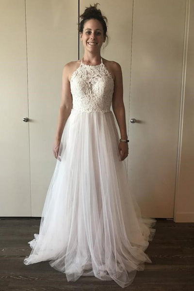 a-line-lace-tulle-ivory-wedding-dress-boho-style-online