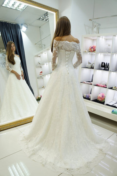 a-line-off-the-shoulder-lace-bridal-gown-34-sleeves-vestido-de-novia-1
