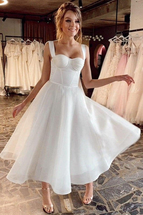 a-line-organza-short-wedding-dress-with-double-straps