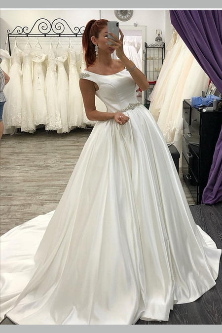 Casual Backyard Wedding Dresses with Irregular Skirt