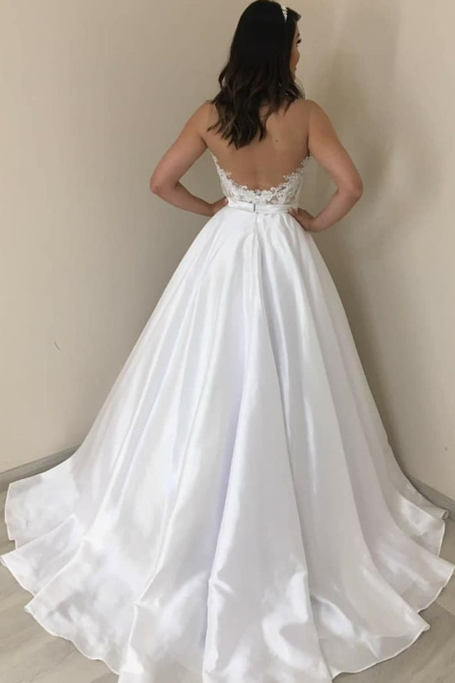 a-line-satin-bride-wedding-dresses-with-appliques-strapless-bodice-1
