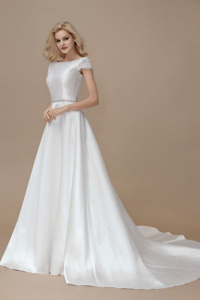 a-line-satin-formal-wedding-gown-with-lace-sleeves