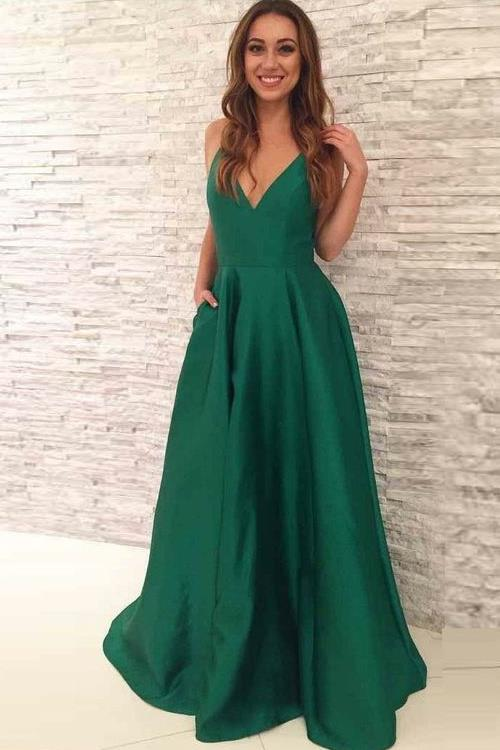 a-line-satin-green-formal-evening-gown-with-pockets