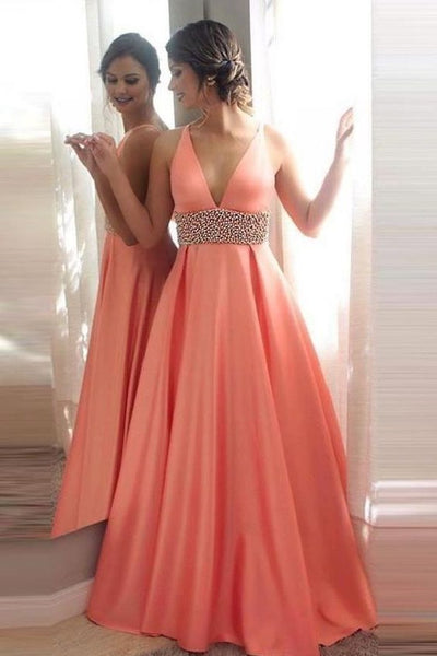 a-line-satin-long-pink-prom-gown-styles-with-pearls-waistband
