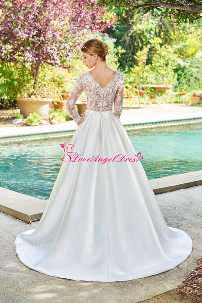 a-line-satin-modest-lace-long-sleeves-wedding-dress
