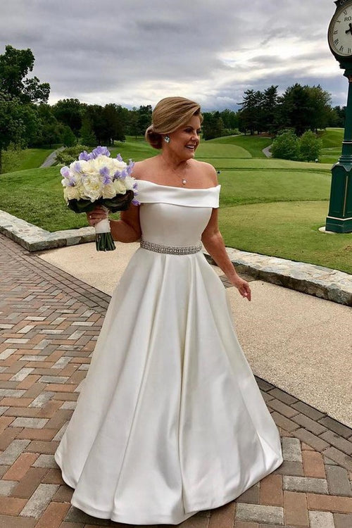 a-line-satin-plus-size-wedding-dress-with-rhinestones-belt