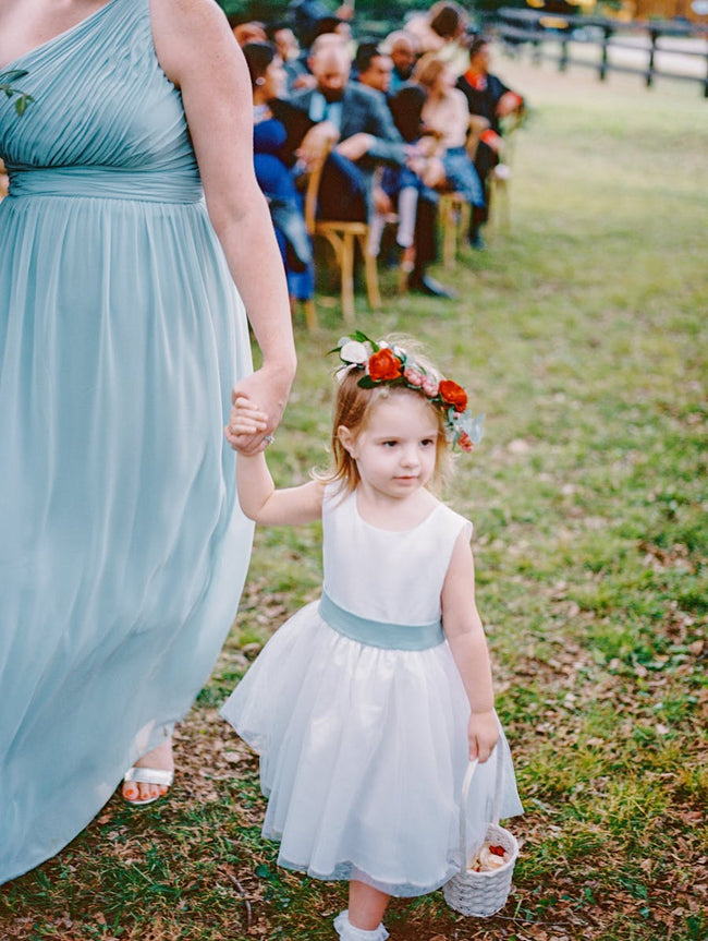 a-line-satin-tulle-belted-simple-flower-girl-dress-country-1