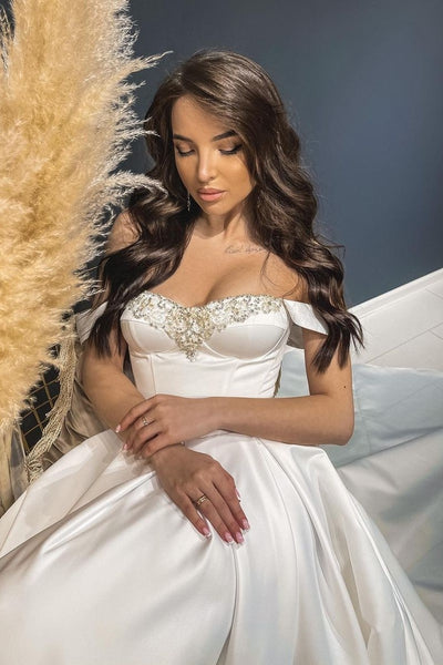 a-line-satin-wedding-dresses-with-beaded-neckline-1