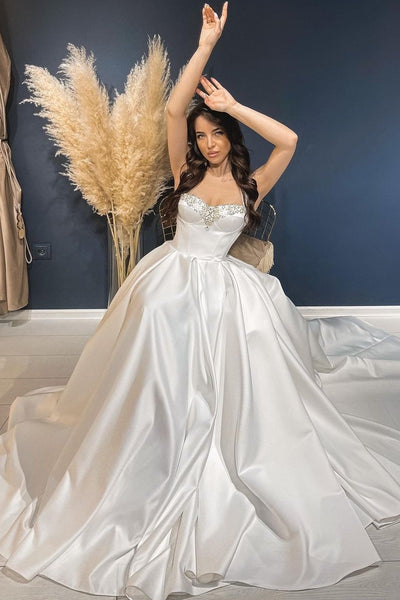 a-line-satin-wedding-dresses-with-beaded-neckline