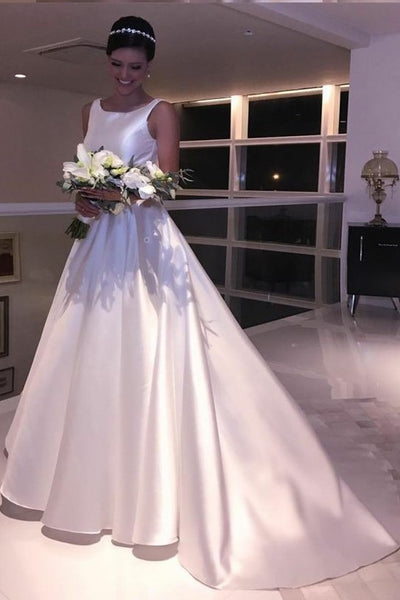 a-line-satin-white-wedding-dresses-with-bow-sash-vestido-de-novia