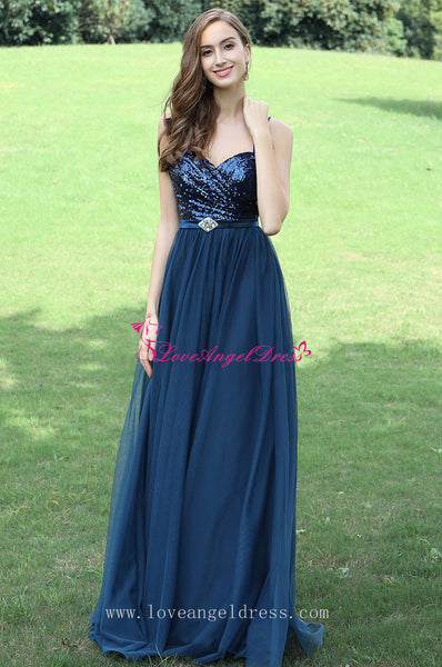a-line-sequins-tulle-blue-prom-dresses-with-spaghetti-straps