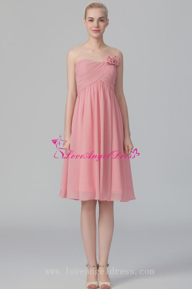 A Line Strapless Empire Waist Summer Wedding Guests Dresses For