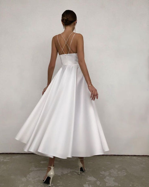 a-line-tea-length-white-wedding-gown-with-straps-back-1
