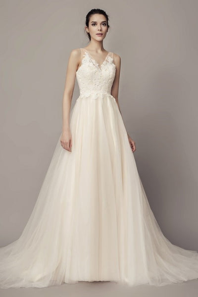 a-line-tulle-beach-wedding-dresses-with-lace-bodice