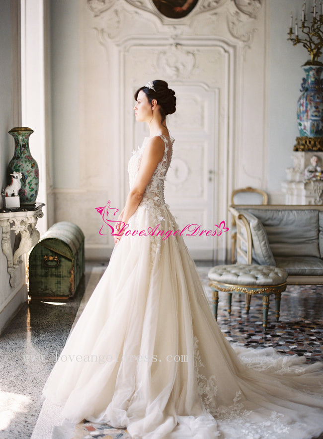 a-line-tulle-lace-appliques-princess-wedding-gown-with-boat-neck