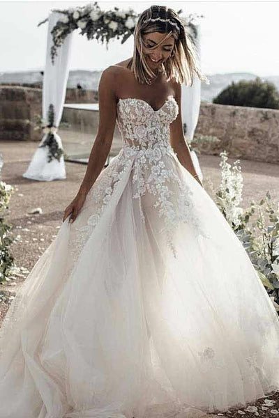 a-line-tulle-skirt-floral-lace-sweetheart-wedding-dresses-backless