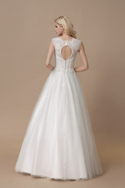 affordable-lace-a-line-bridal-dress-floor-length-tulle-skirt-1