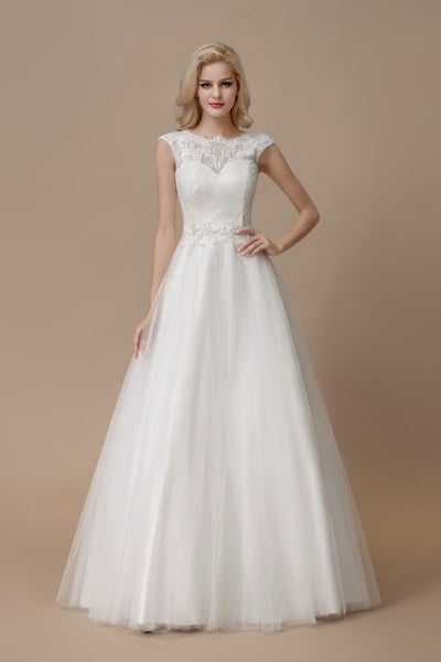 affordable-lace-a-line-bridal-dress-floor-length-tulle-skirt-2