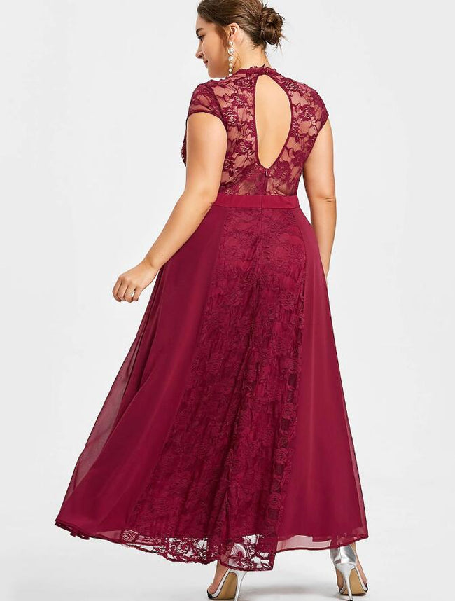 ankle-length-burgundy-plus-size-mother-of-the-bride-lace-dress-with-sleeves-1