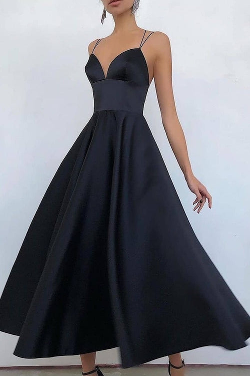 ankle-length-satin-navy-prom-dresses-with-double-straps