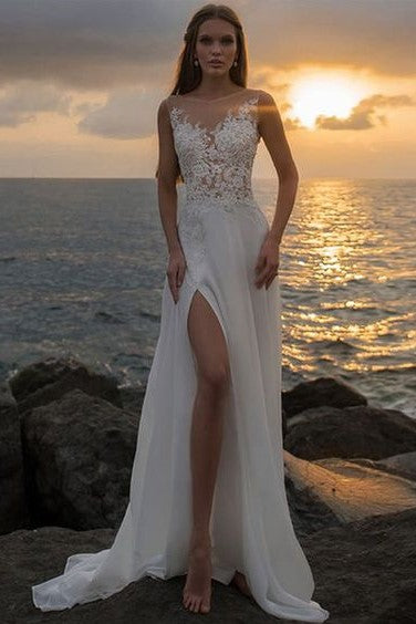 appliqued-lace-beach-wedding-gowns-with-see-through-neckline-1
