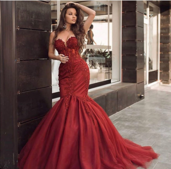 appliques-red-mermaid-evening-dresses-with-tulle-skirt-1