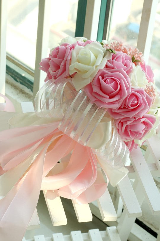artificial-roses-pink-wedding-bridal-bouquet-holding-flowers-1