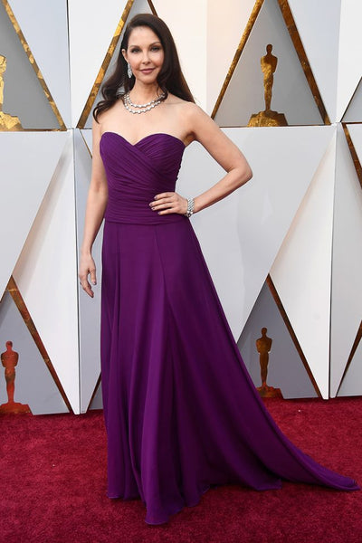 ashley-judd-purple-chiffon-celebrity-dresses-in-oscar-2018