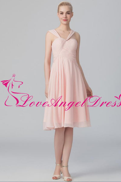 asymmetric-neckline-chiffon-pink-knee-length-bridesmaid-dresses