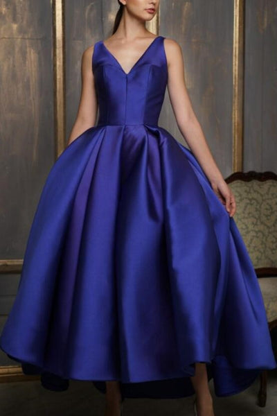 asymmetrical-ankle-length-satin-prom-gown-royal-blue