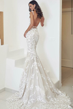 backless-floral-lace-wedding-dresses-with-mermaid-train