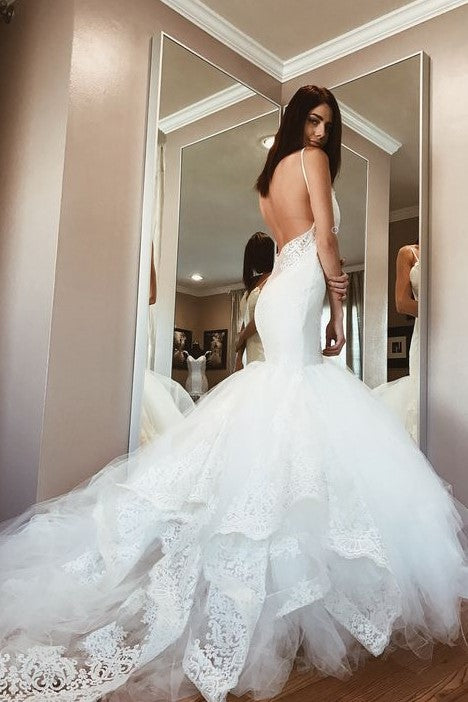 backless-mermaid-wedding-gown-dress-with-lace-cathedral-tulle-train