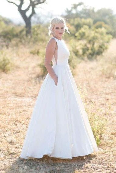 bateau-a-line-simple-floor-length-wedding-gown-with-pockets