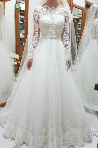bateau-lace-and-tulle-wedding-gown-dress-long-sleeves