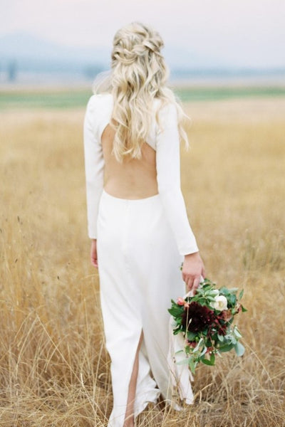 bateau-simple-outdoor-wedding-dress-with-long-sleeves-1