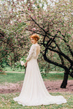 bateau-spring-wedding-dresses-with-lace-sleeves-1