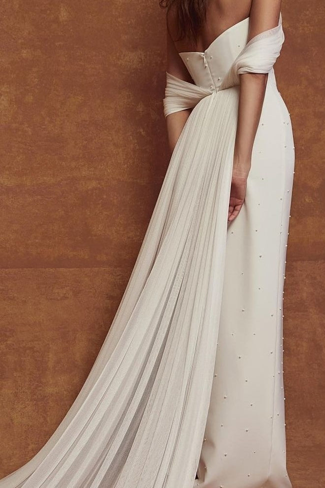beach-chiffon-wedding-dresses-with-ruching-off-the-shoulder-1