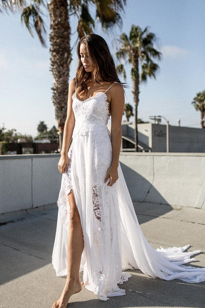 beach-ready-lace-chiffon-bride-dress-with-shoestring-straps