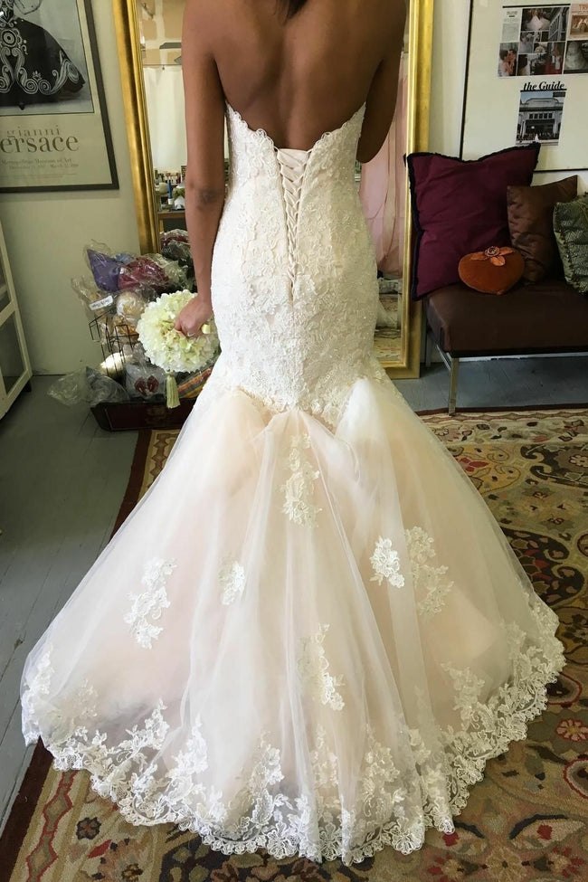 f91d0c808b2 beaded-appliques-lace-mermaid-wedding-dresses-with-tulle-