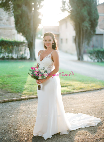 beaded-appliques-v-neck-sheath-destination-wedding-gown-with-spaghetti-straps