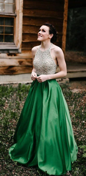 beaded-bodice-green-prom-dress-with-halter-strap-2