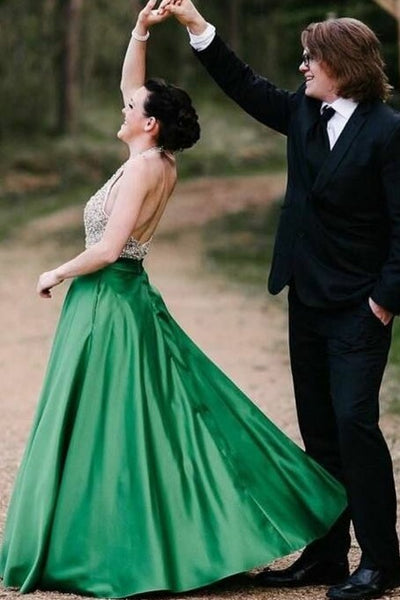 beaded-bodice-green-prom-dress-with-halter-strap