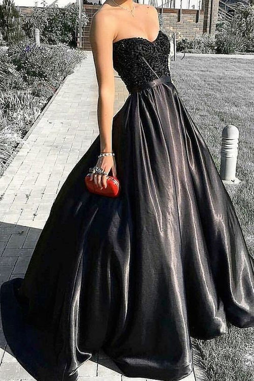 beaded-corset-black-prom-evening-dresses-with-satin-skirt