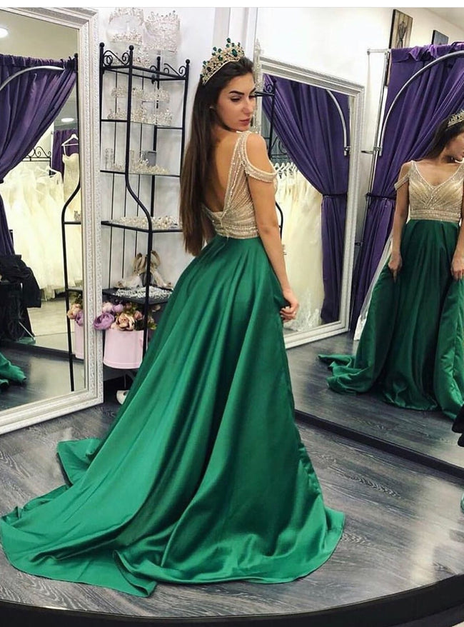 beaded-crystals-green-prom-dresses-with-off-the-shoulder-1