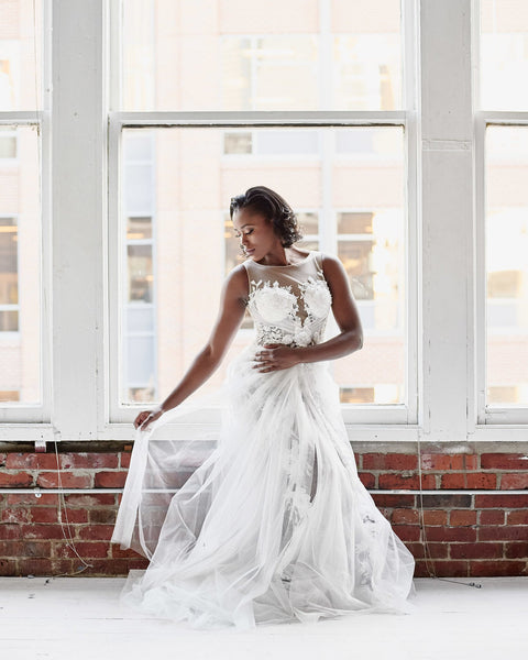 beaded-floral-lace-wedding-gown-with-sheer-tulle-skirt-2