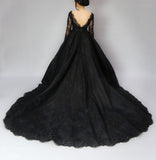 beaded-lace-black-wedding-dresses-long-sleeves-3