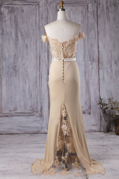 beaded-lace-champagne-bridesmaid-dress-long-chiffon-skirt-1