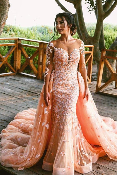 378a62d2d Beaded Lace Colored Wedding Dresses with Long Tulle Overskirt –  loveangeldress